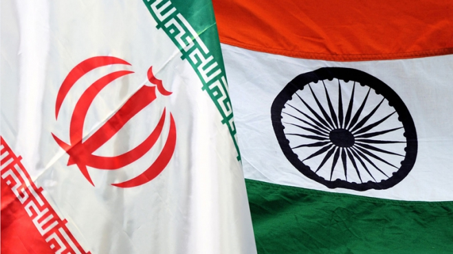 Image of Indian and Iranian Flag