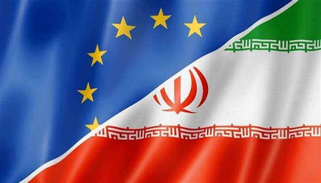 Image of EU and Iran Flags