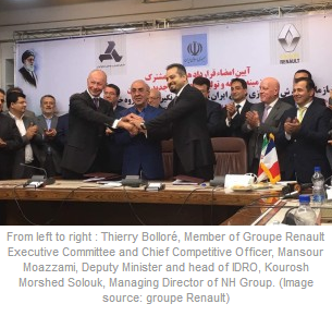 Renault Motors Sign Joint Venture Agreement With Iranian Company