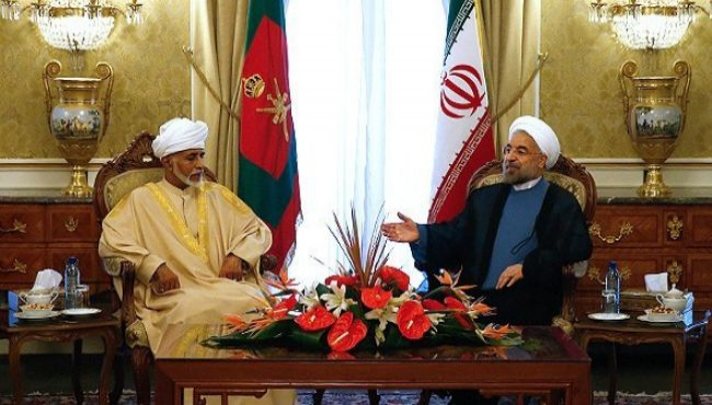 Iranian President Hassan Rouhani and Qaboos bin Said Sultan of Oman,