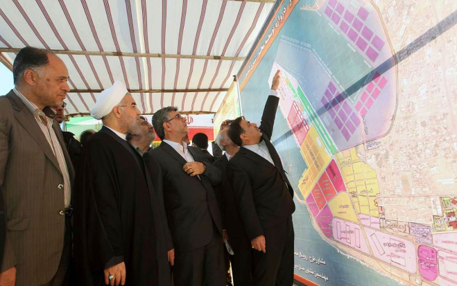 Railway Network Chabahar to Mashhad, President Rouhani in Chabahar